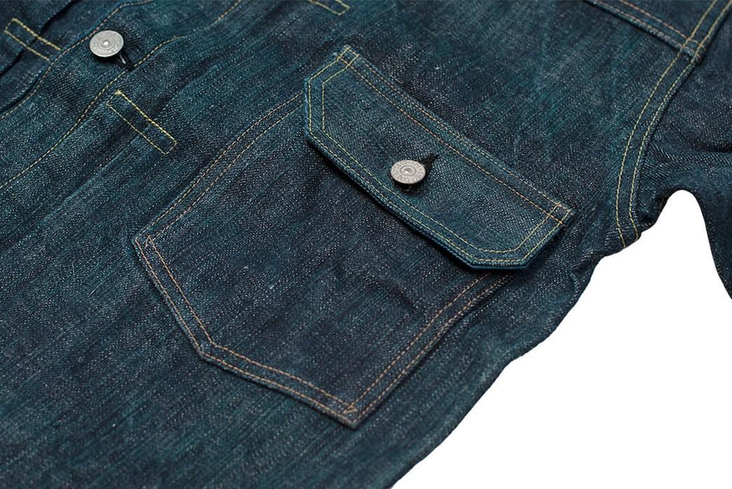 Sugar-Cane-Celebrates-55-Years-With-Its-Limited-Edition-Edo-AI-Denim-jacket-front-pocket
