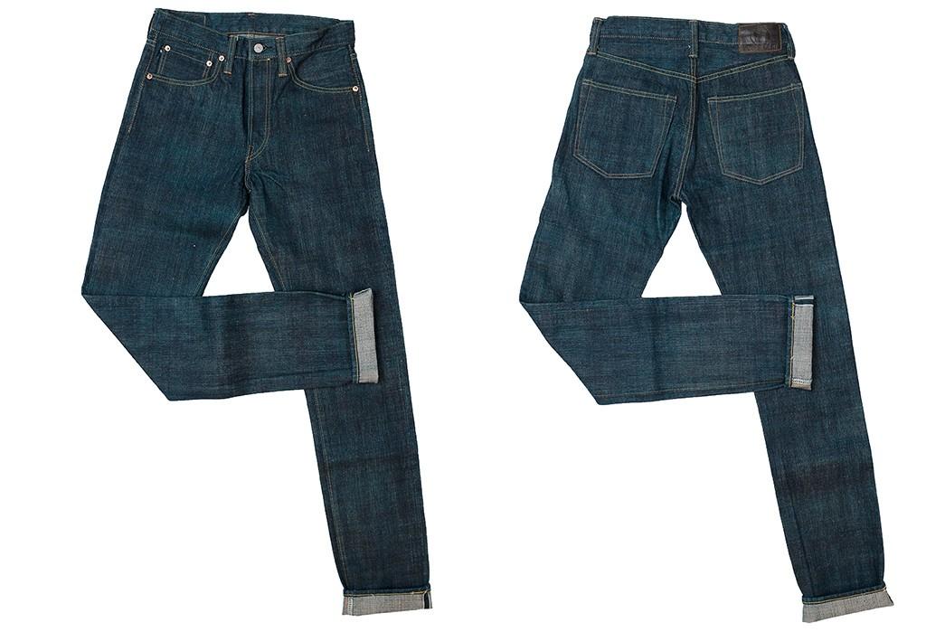 Sugar-Cane-Celebrates-55-Years-With-Its-Limited-Edition-Edo-AI-Denim-pants-front-back