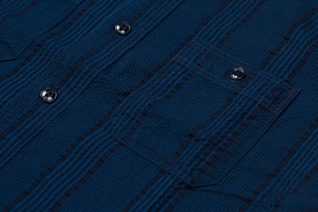 Sweeten-Up-Your-Shirt-game-With-Sugar-Cane's-Indigo-Dyed-Seersucker-Summer-Shirt-front-detailed-2