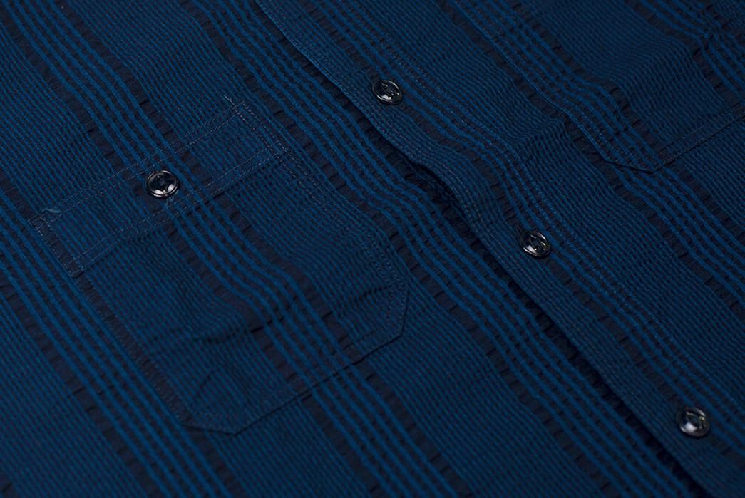 Sweeten-Up-Your-Shirt-game-With-Sugar-Cane's-Indigo-Dyed-Seersucker-Summer-Shirt-front-detailed