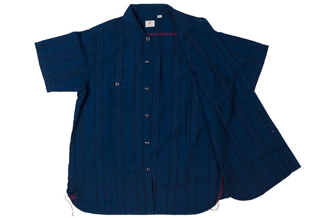 Sweeten-Up-Your-Shirt-game-With-Sugar-Cane's-Indigo-Dyed-Seersucker-Summer-Shirt-front-open