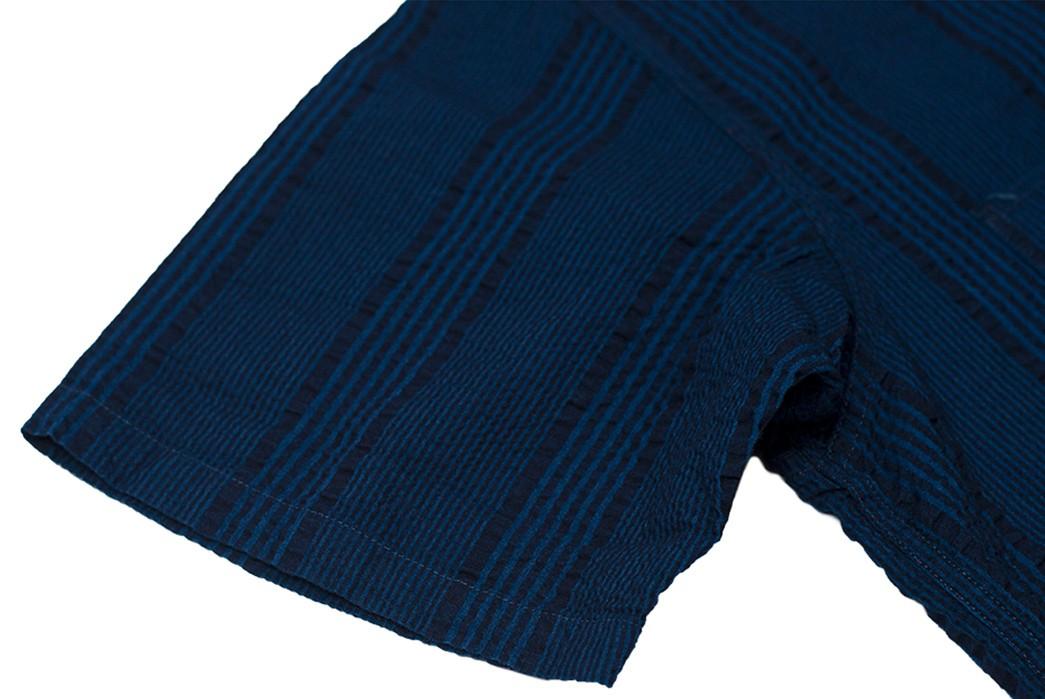 Sweeten-Up-Your-Shirt-game-With-Sugar-Cane's-Indigo-Dyed-Seersucker-Summer-Shirt-sleeve