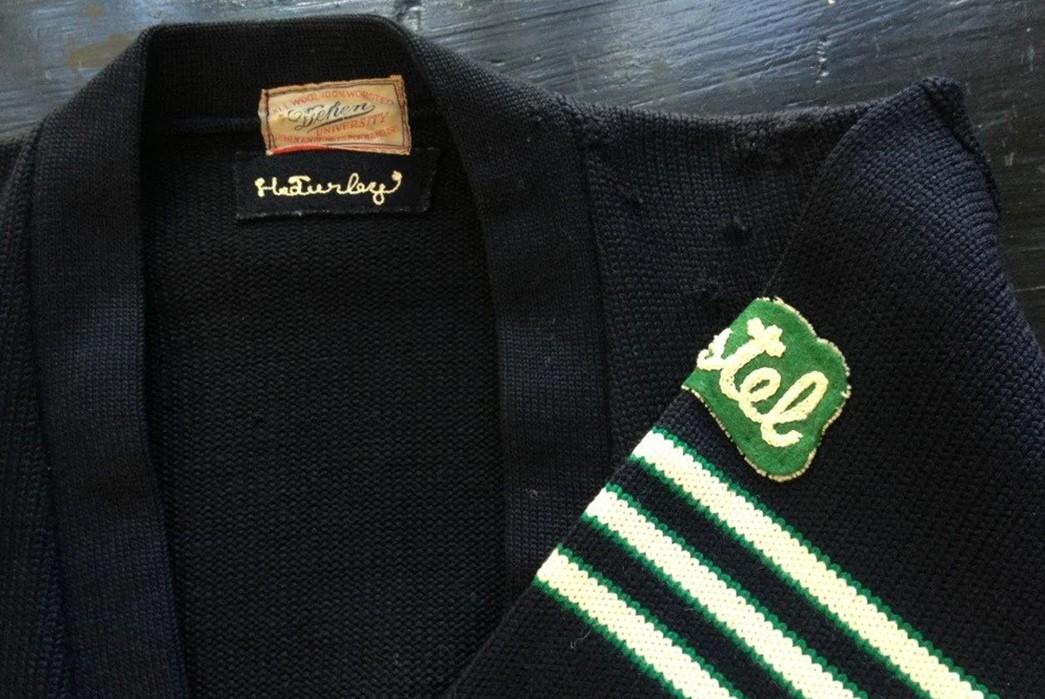 Brand-Profile-Dehen-Knitting-Co....Sweater-Weather's-Best-Friend-Vintage-Dehen-Varsity-Sweater