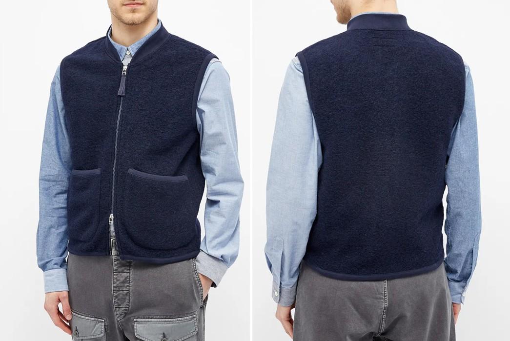 Casual-Wool-Vests---Five-Plus-One-2)-Universal-Works-Wool-Waistcoat