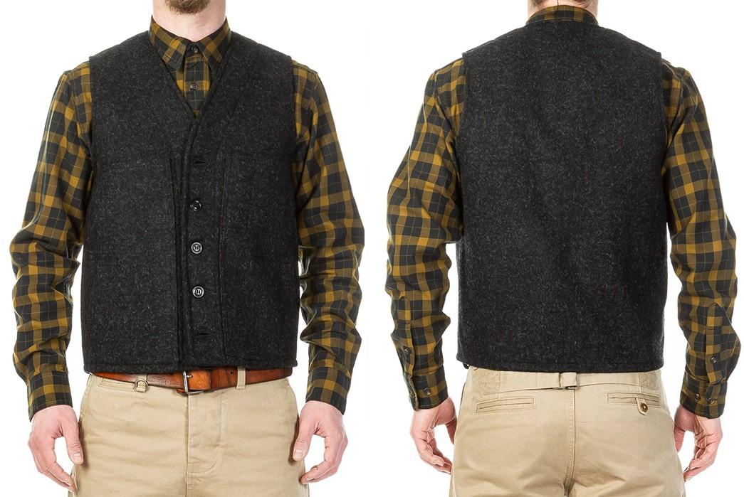 Casual-Wool-Vests---Five-Plus-One-3)-Filson-Mackinaw-Wool-Vest