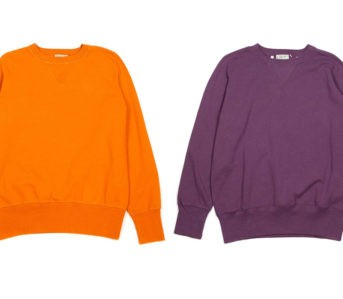 Levi's-Vintage-Clothing-Dyes-Its-Classic-Bay-Meadows-Sweatshirt-In-Two-Oh-So-80s-Colors-front-orange-and-purple