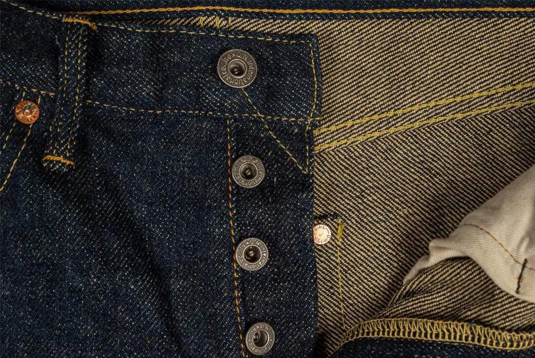 ONI's-288ZR-20-Oz.-Jean-Proves-Its-Secret-Denim-Is-As-Slubby-As-Ever-front-top-buttons