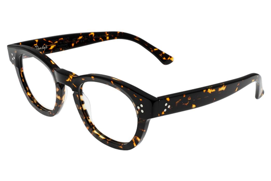 Self-Edge-Welcomes-Italian-Eyewear-Brand,-Dandy's-black-yellow