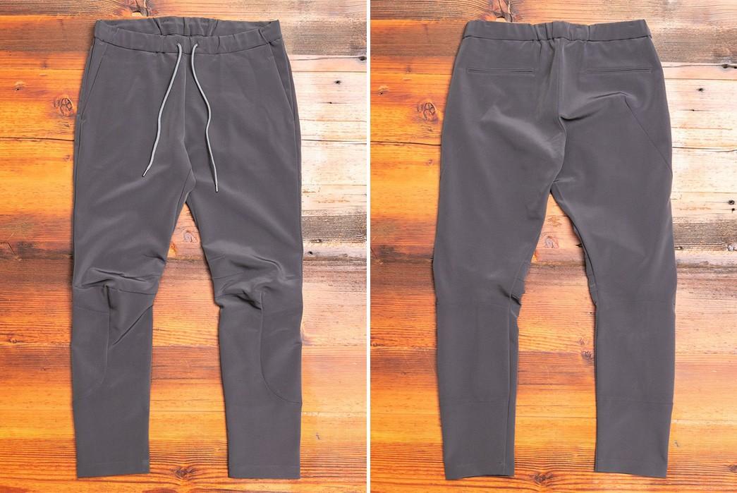 Drawstring-Tech-Pants---Five-Plus-One-3)-Kazuyuki-Kumagai-Attachment-Light-Tech-Stretch-Pants
