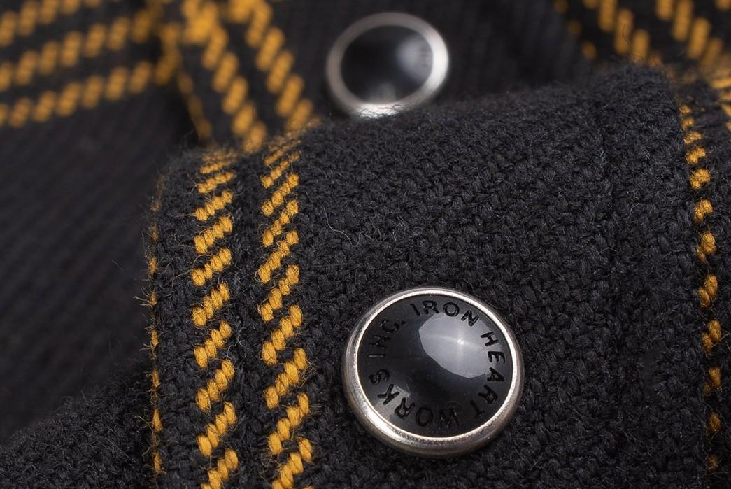 Iron-Heart-Weaves-a-Check-Western-Shirt-From-Peruvian-Aspero-Cotton-buttons