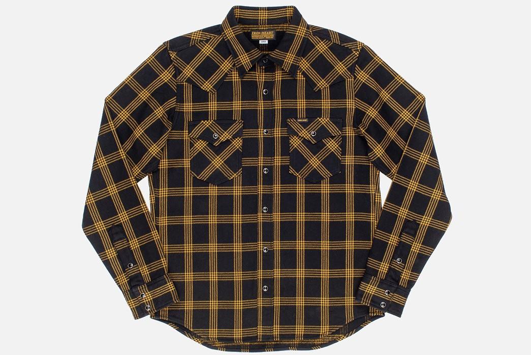 Iron-Heart-Weaves-a-Check-Western-Shirt-From-Peruvian-Aspero-Cotton-front
