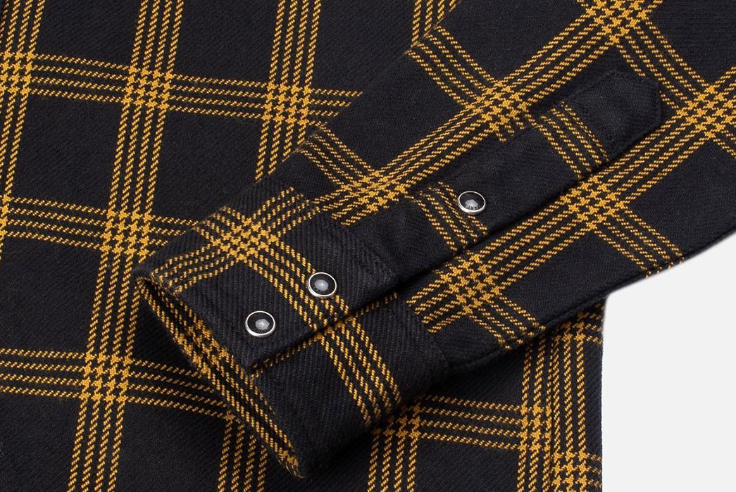 Iron-Heart-Weaves-a-Check-Western-Shirt-From-Peruvian-Aspero-Cotton-sleeve