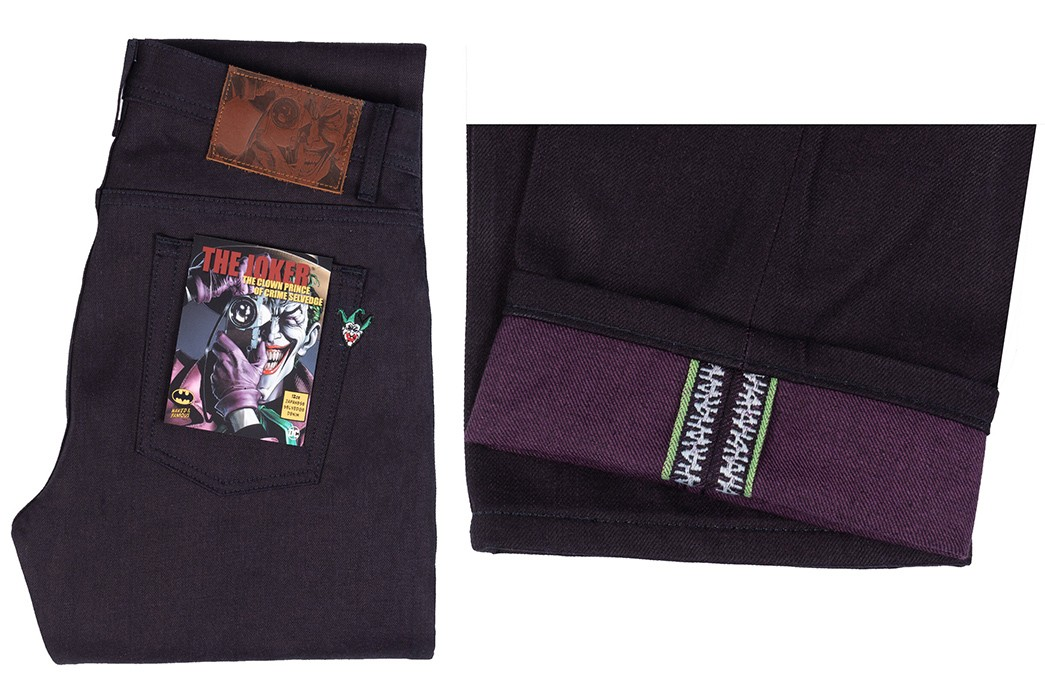 Naked-&-Famous-Goes-To-Gotham-With-Its-Batman-Collaboration-folded-and-leg-selvedge-purple