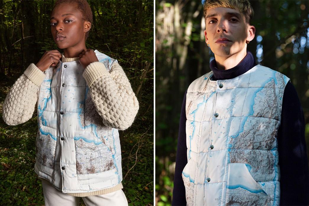 Navigate-Colder-Days-With-The-Super-Marche-x-Bonhomme-Down-Jacket-front-model