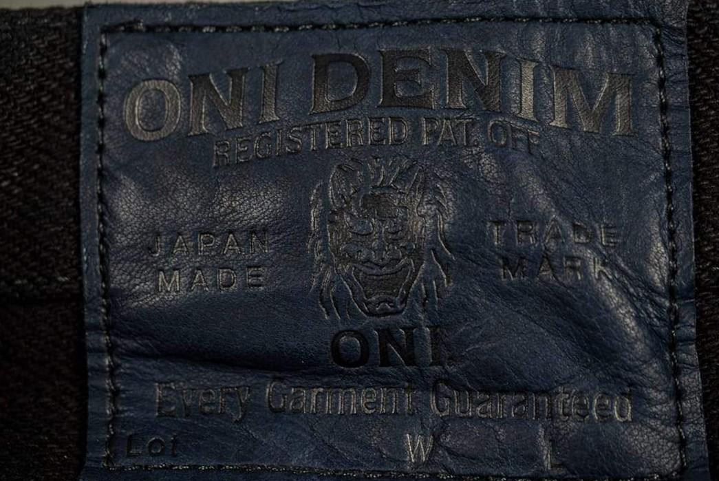 ONI-Marries-Indigo-&-Black-With-Its-679-Aizumi-x-Black-Secret-Denim-Jeans-back-leather-patch