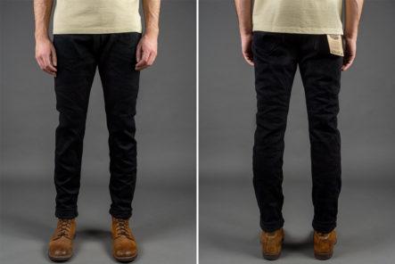 ONI-Marries-Indigo-&-Black-With-Its-679-Aizumi-x-Black-Secret-Denim-Jeans-model-front-back
