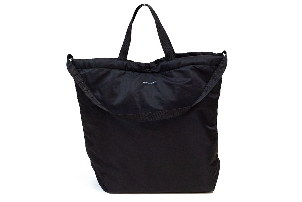 Pack-It-Up-With-Engineered-Garment's-Flight-Satin-Nylon-Tote-Bags-black