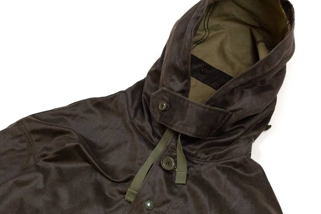 Strap-Into-The-Waxed-Engineered-Garments-Madison-Parka-front-hood