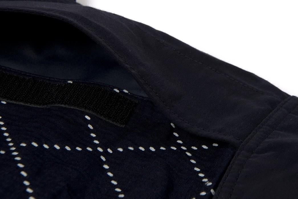 Studio-D'Artisan-Applies-Sashiko-Detailing-To-A-Classic-Mountain-Parka-detailed