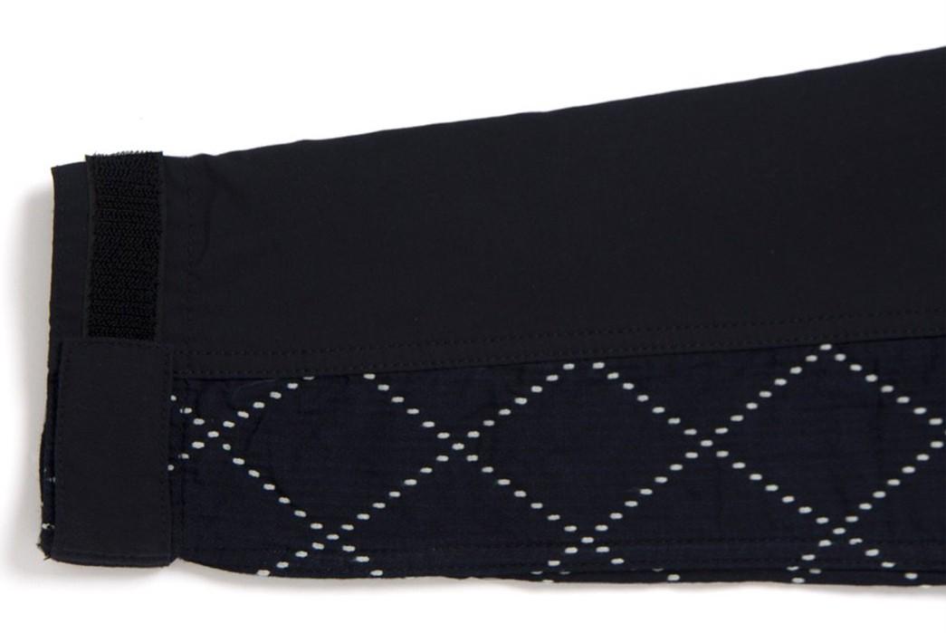 Studio-D'Artisan-Applies-Sashiko-Detailing-To-A-Classic-Mountain-Parka-sleeve