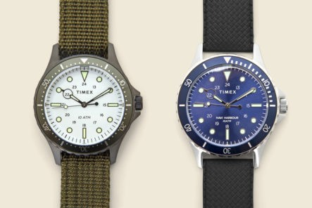 The-Timex-Navi-XL-Watch-Is-Inspired-By-The-Brand's-Earliest-Diver-Styles-green-and-blue-detailed