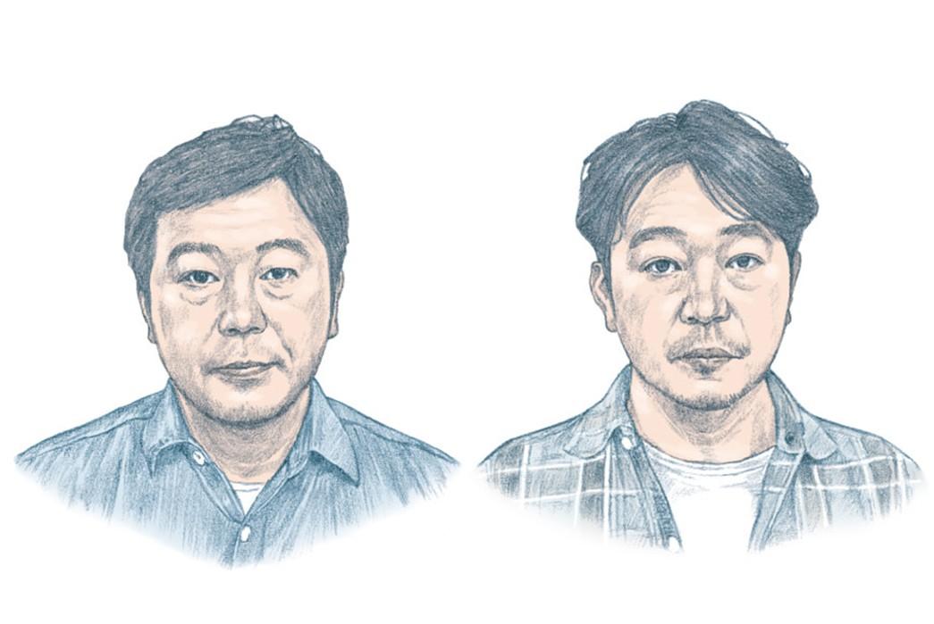 Warehouse-&-Co.---Behind-The-Osaka-Five-Denim-Purists-The-Shiotani-Twins-via-Beams-Plus.-Image-via-Yahoo!-Japan-Auctions
