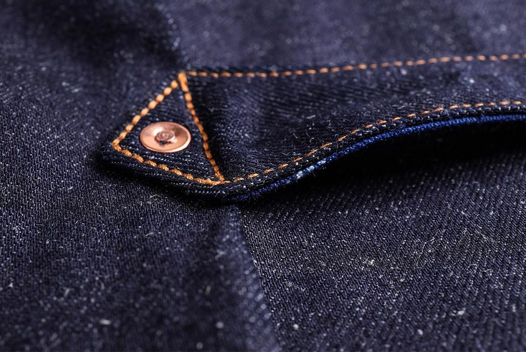 Companion-Sews-Up-Cotton-Hemp-Blend-Italian-Selvedge-Denim-For-Its-Nevada-Jacket-back-detailed