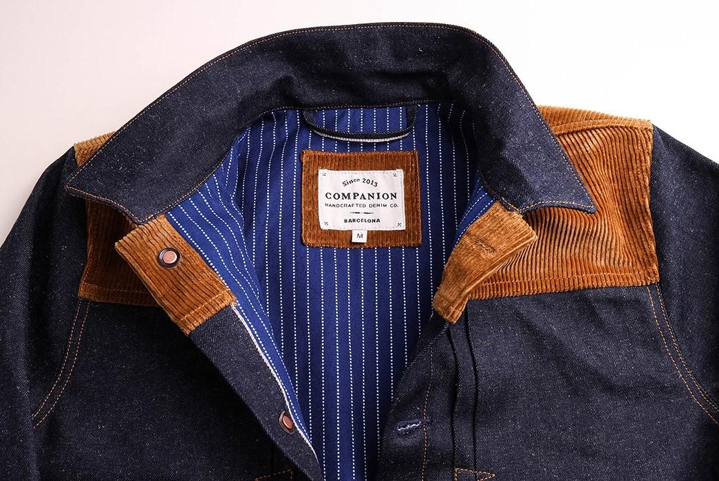 Companion-Sews-Up-Cotton-Hemp-Blend-Italian-Selvedge-Denim-For-Its-Nevada-Jacket-front-top-open-collar