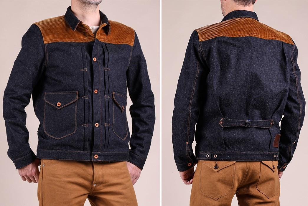 Companion-Sews-Up-Cotton-Hemp-Blend-Italian-Selvedge-Denim-For-Its-Nevada-Jacket-model-front-back