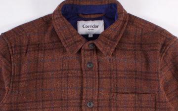 Corridor-NYC-Renders-Its-Shetland-Wool-Jacket-in-'Raisin'-Plaid-front-top