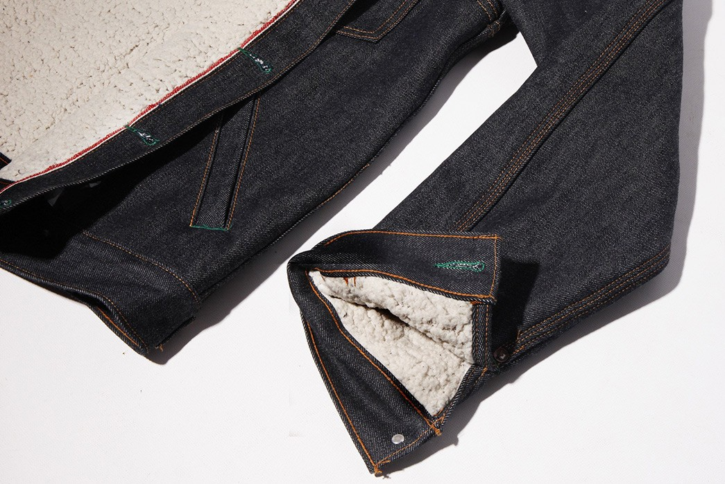 Pre-Order-Left-Field's-Molly-Maguire-Shearling-Lined-14-oz.-Denim-Jacket-sleeve