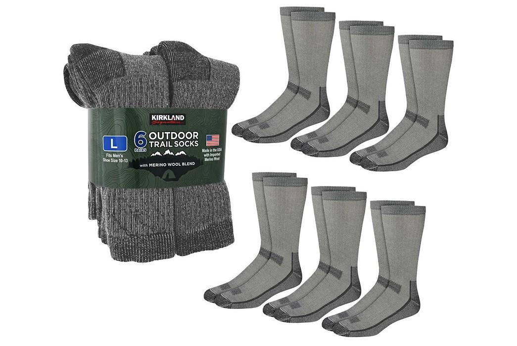 Wool-Socks---Five-Plus-One-2)-Kirkland-Signature-Wool-Crew-Socks