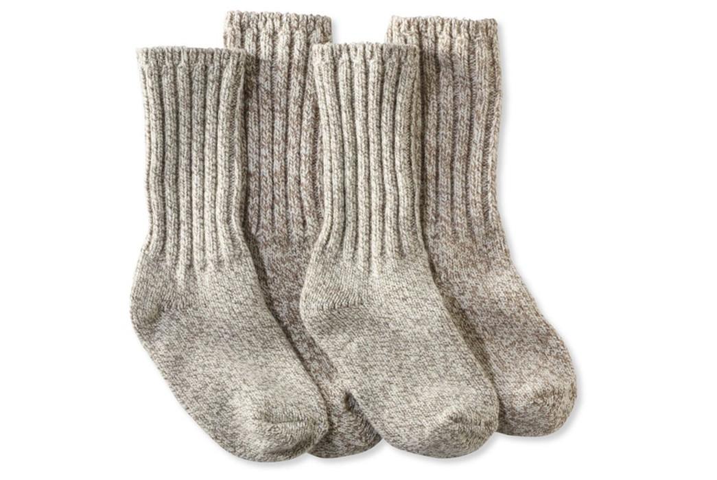 Wool-Socks---Five-Plus-One 1) L.L. Bean: Merino Wool Rag Socks