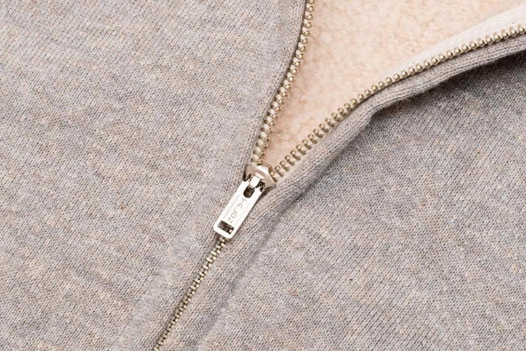 Zip-Up-Osaka-Style-With-Warehouse-&-Co.'s-Lot.-451--Sweat-Parka-light-grey-zipper