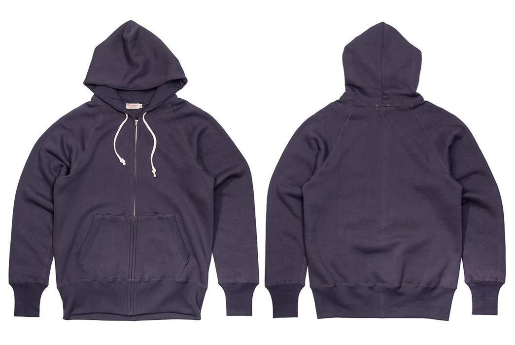 Zip-Up-Osaka-Style-With-Warehouse-&-Co.'s-Lot.-451--Sweat-Parka-purple-front-back