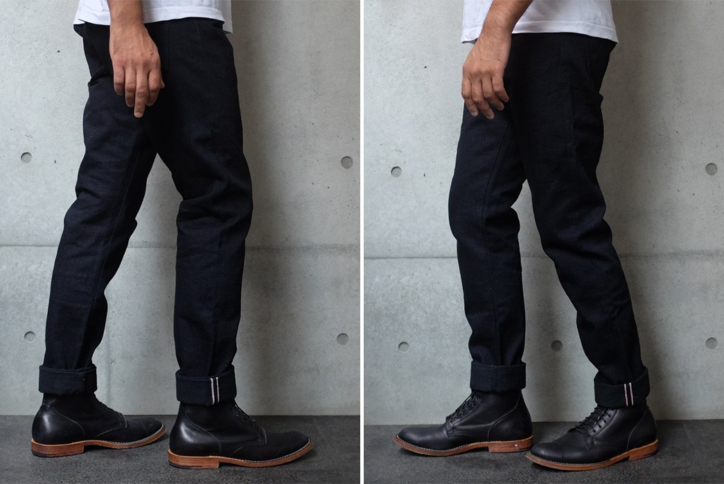 Okayama-Denim-Teams-Up-With-PBJ-For-18-oz.-'Panther'-Selvedge-Jeans-model-sides