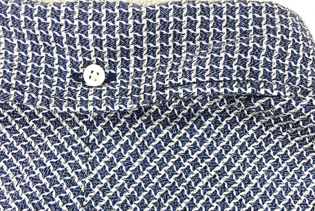 Slice-Through-Layering-Season-With-Samurai's-Shuriken-Laden-Shirt-blue-button