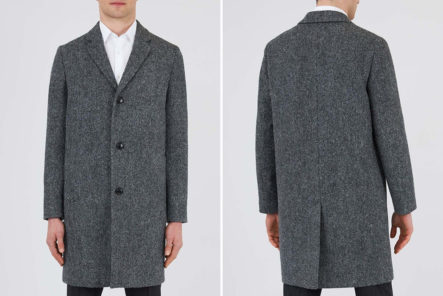 Sunspel-Builds-a-Classic-British-Overcoat-In-Harris-Tweed-model-front-back