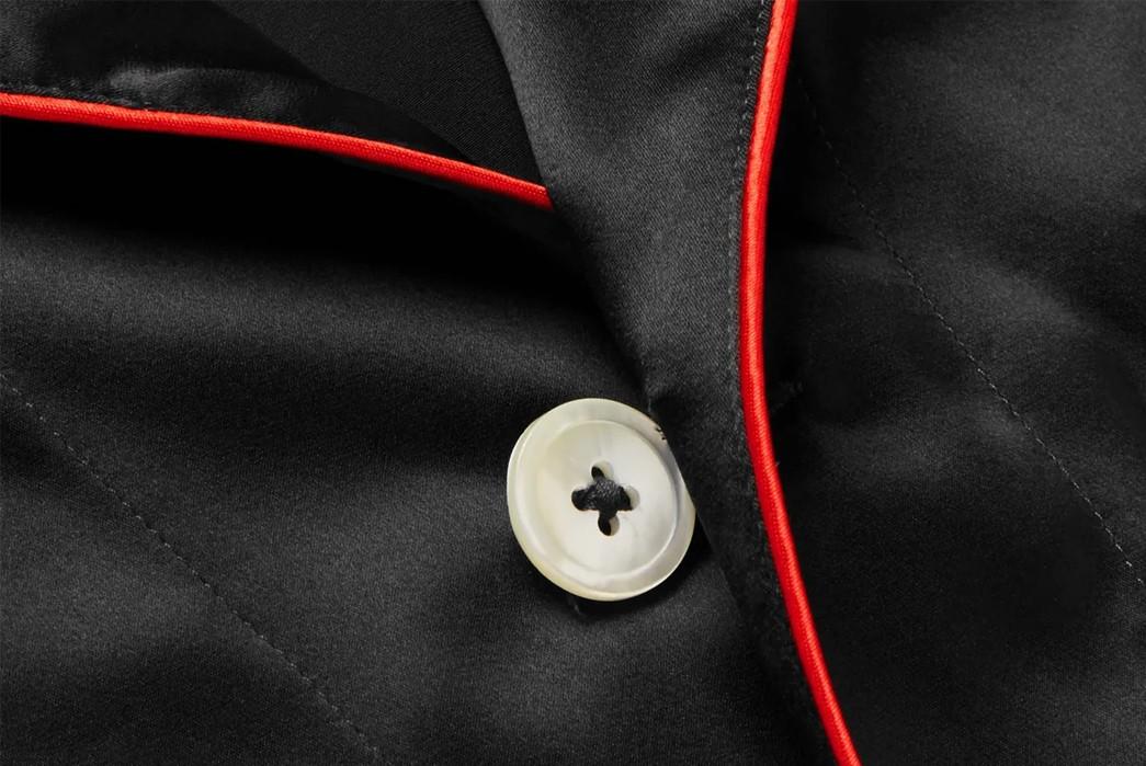 Winter-Pajamas---Five-Plus-One-Plus-One---Isaia-Black-Piped-Silk-Blend-Satin-Pajamas-button