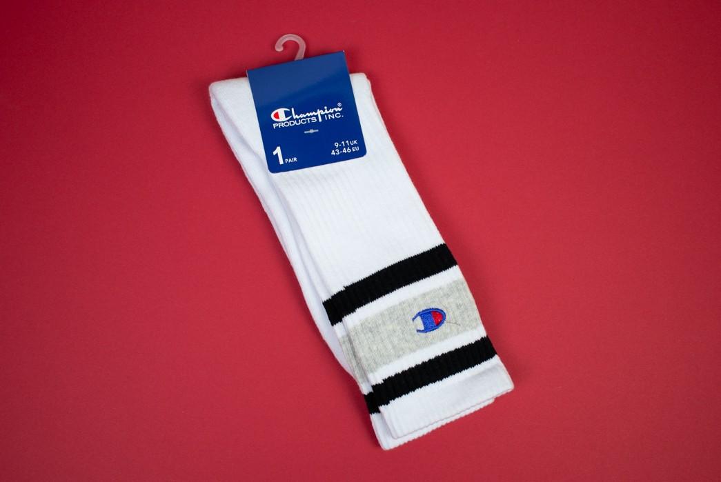 Champion Reverse Weave Color Block Sock Review
