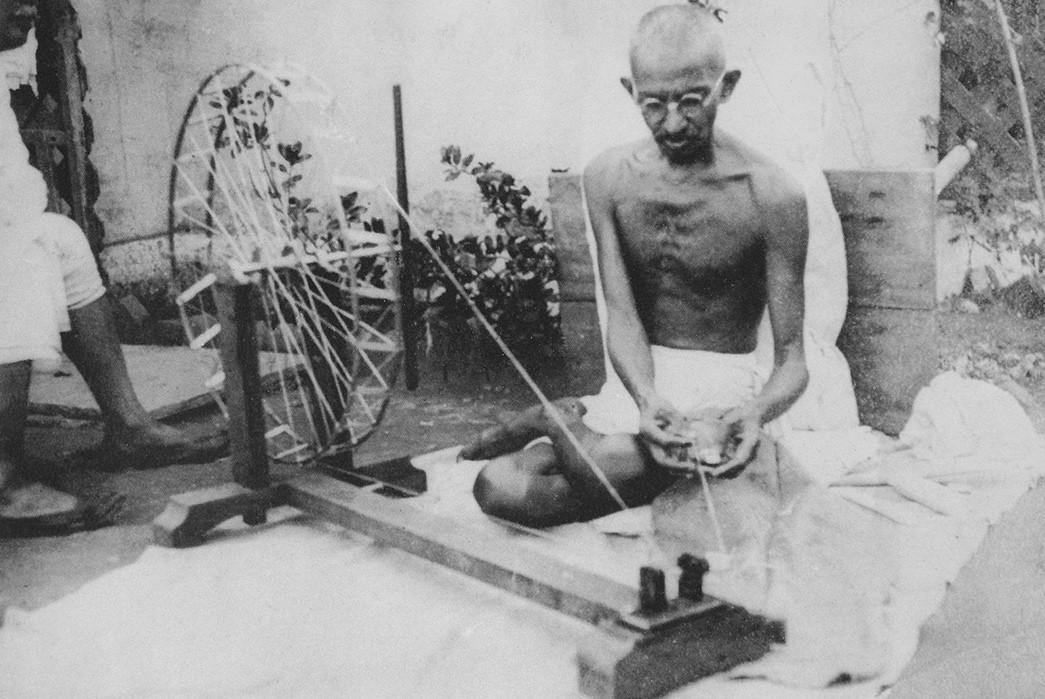 Country-of-Origin---India-Mahatma-Gandhi-spins-yarn-in-the-late-1940s.-Image-via-gandhiserve.org--WikiCommons