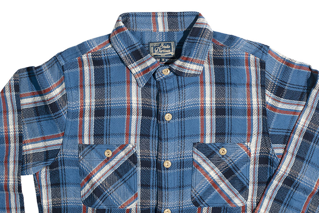 Get-High-With-Studio-D'Artisans-Blue-Kush-&-Red-Eye-Flannel-Shirts-blue-front-top