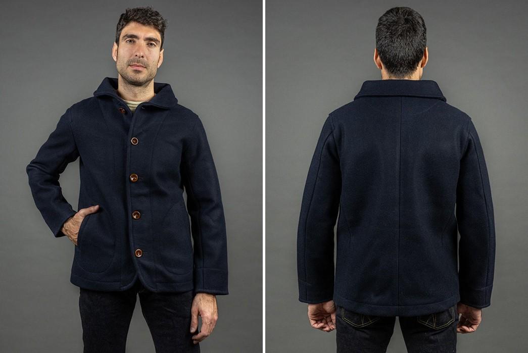 Melt-Ice-With-The-Strike-Gold's-Military-Melton-Jacket-model-front-back
