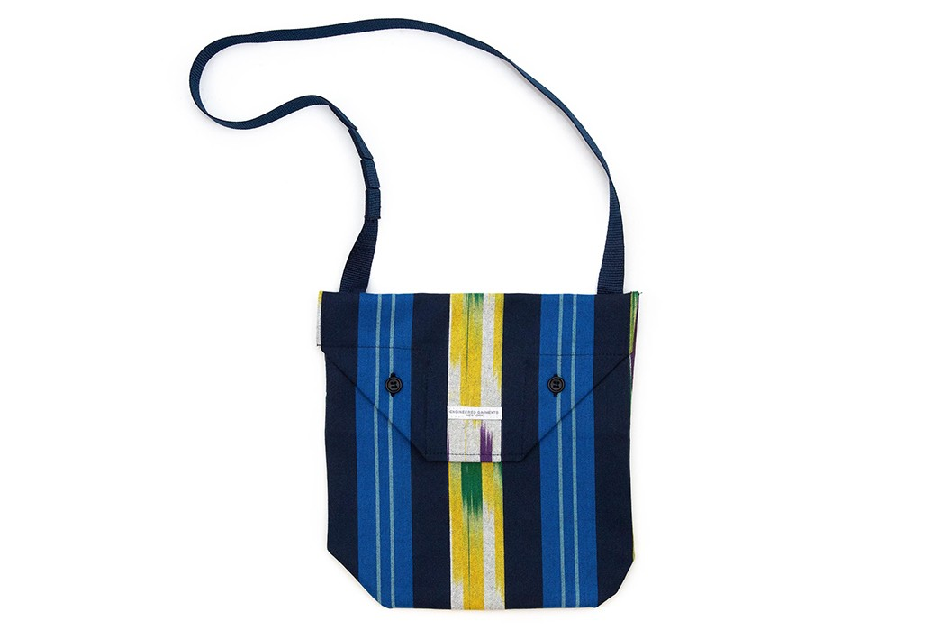 Prepare-For-Socially-Distanced-Spring-Picnics-With-Engineered-Garment's-Ikat-Shoulder-Pouch