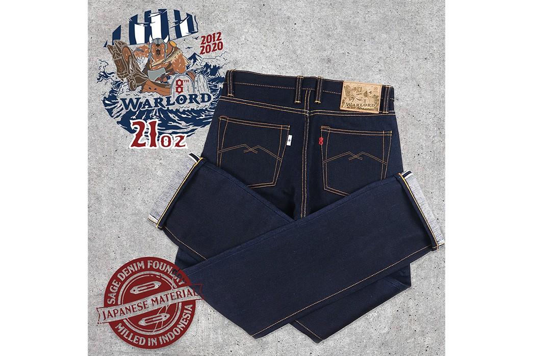 Sage-Celebrates-Its-8th-Anniversary-With-Extra-Deep-Indigo-21-Oz.-Denim-back-folded-brands
