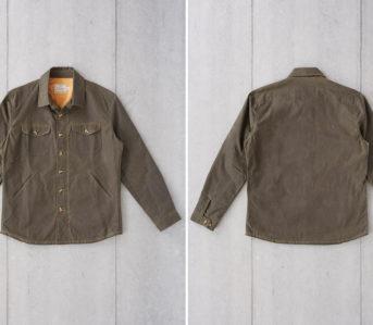 Dehen 1920 Waxes Up Its Crissman Overshirt-front-back