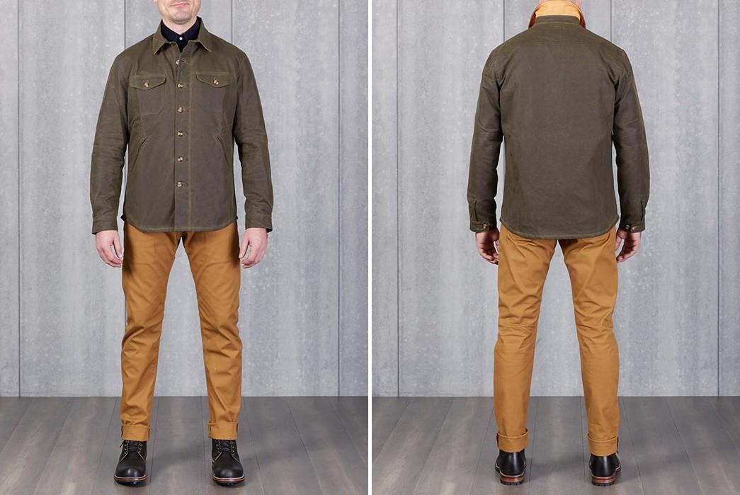 Dehen-1920-Waxes-Up-Its-Crissman-Overshirt-model-front-back