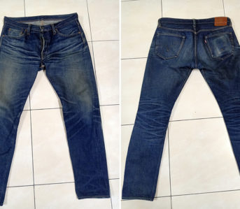 Fade-Friday---Samurai-Jeans-711VX-(1.5-Years,-3-Washes,-1-Soak)-front-back