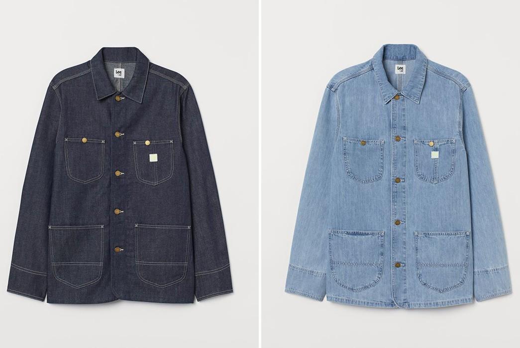 Lee-x-H-&-M-dark-blue-and-light-blue shirt