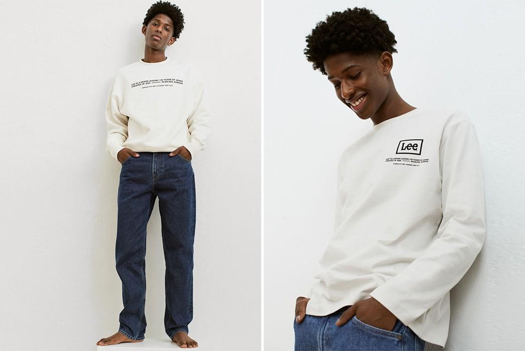 Lee-x-H-&-M-model-white-shirt